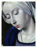Face of the Virgin Mary, from the Nativity, with Donor Cardinal Jean Rolin, C.1480 (Detail) Giclee Print by Jean Hey