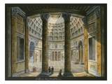 Interior of the Pantheon, Rome, Gouache, C.1820 Giclee Print