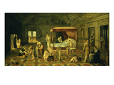 Birth of Saint John the Baptist Giclee Print by Lambert Sustris