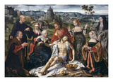 Lamentation of Christ, Centre Section of Three-Part Retable, Paint on Wood, C. 1530 - 40 Giclée-Druck von Joos Van Cleve