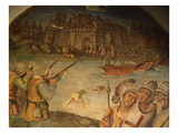 Battle of Belgrade, 1456 Giclee Print by Pompeo Mausonio (Attr to)