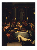 Scene of Roman Banquet, 16th Century Giclee Print by  Florentine School