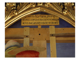 Hebrew, Greek and Latin Inscriptions on Sign Above the Cross, from Deposition of Christ, 1435 Giclee Print by  Fra Angelico