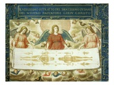 Angels Carrying the Holy Shroud, Deposition of Christ, 17th Century Giclee Print by Giovanni Battista Della Rovere