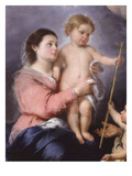 The Holy Family, Called the Virgin of Seville, 1670, Detail Giclee Print by Bartolome Esteban Murillo