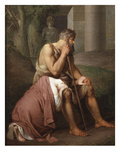 Oedipus and Antigone, 1809 Giclee Print by Johann Peter Krafft
