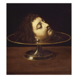 Head of John the Baptist, 1507, with Frame and Inscription Giclee Print by Andrea Solario