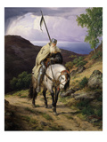 Wandering Knight Giclee Print by Carl Friedrich Lessing