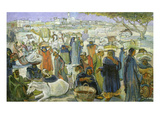 Market in a Valley, 1938 Giclee Print by Ragheb Ayad