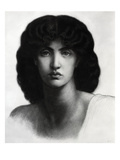 Study for Astarte Syriaca, Model Jane Morris, Pencil, 1875 Premium Giclee Print by Dante Gabriel Rossetti