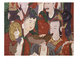 Musicians, from the Guardian Divinities, Coloured Silk, 1795, from Temple of Suguk-Sa, Korea Giclee Print
