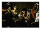 Réunion Dans Un Cabaret (Gathering in a Tavern) Giclee Print by Pierre Antoine Augustin Vafflard
