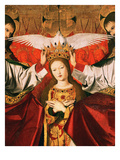 The Coronation of the Virgin, 1453 (Detail) Giclee Print by Enguerrand Quarton