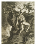 Sisyphus in Hades, Engraving, 17th Century Giclee Print by  Flemish School