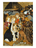 Adoration of the Magi, Verdu Retable, 1430-61, Llieda School Giclee Print by Jaime Ferrer