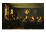 La Vente Aux Feux Dans La Salle De Mairie (French Judiciary Auction) Giclee Print by Jacques Baugnies