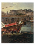 Loading a Ship, Arsenal at Naples, 1711 (Inv 70), Detail Giclée-Druck von Gaspar van Wittel