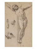 Christ on the Cross, Study, Drawing Giclee Print by Simon Vouet