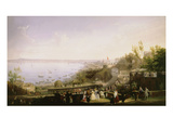 Inauguration of the Naples - Portici Railway, 1839 Giclee Print by Salvatore Fergola