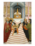 Presentation of Mary at the Temple, Verdu Retable, 1430-61, Llieda School Giclee Print by Jaime Ferrer