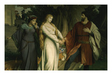 Tristan with Iseult, or Isolde, Scene from Tristan Und Isolde, 1865 Giclee Print by August Spiess