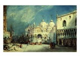 Saint Mark's Square, Venice, Italy, Watercolour (Theatrical Backdrop Design) Giclee Print by William Wyld