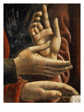 Hands of Saints Matthew and Philip, from the Last Supper, Fresco C.1444-50 (Detail) Giclée-tryk af Andrea Del Castagno