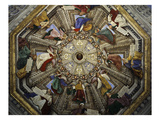Frescos on Cupola, Basilica of Santa Casa Gicle-tryk af Melozzo da Forl