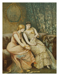 Conversation About the Dance Card, Preparations for a Ball, 1882, Engraving by the Artist Giclee Print by Arthur Hopkins
