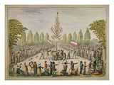 Plantation D&#39;Un Arbre De La Libert&#233; (Planting of a Liberty Tree), 1792, Watercolour Giclee Print by Etienne Bericourt