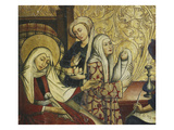 Birth of John the Baptist, Painted Wood, Chapel Choir, Late 15th Century Giclee Print by Hispano-Flemish Workshop