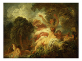 Les Baigneuses (The Bathers) Reproduction procédé giclée par Jean-Honoré Fragonard