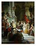 Minerva Awarding Prizes for the Arts Painted 1884 Giclee Print by Giuseppe-lorenzo Gatteri