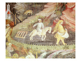 Ploughing, April, from Cycle of the Months, Fresco, 15th Century, Buonconsiglio Castle Giclee Print by  Venceslao
