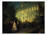 Night-Time Festival in the Tuileries, Paris, France, 10 June 1867 Giclee Print by Pierre Tetar Van Elven