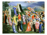 Paradise from the Last Judgement, Copy of Version by Fra Angelico (1387-1455) Giclee Print by Bartholomaeus Spranger