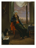 Turk Smoking in His Room, 1829 Giclee Print by Jean-Henri de Coene
