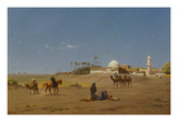 Oasis in Egypt, Undated Giclee Print by Willem Farmars Testas