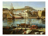 Harbour, Docks with Goods for Sale, Arsenal at Naples, 1711 (Inv 70), Detail Giclee Print by Gaspar van Wittel
