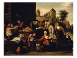 Charitable Works of the Misericordia (Detail) Giclee Print by David Teniers the Younger