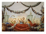 Musical Scene, Fresco, Vault of Spring Salon Giclee Print by Antonio de Dominici