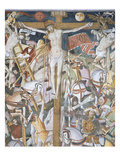 Jesus Dead on the Cross, the Crucifixion, Scene from Christ&#39;s Passion, Fresco, 1492, Detail Giclee Print by Giovanni Canavesio