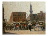 Cairo Street Scene, 1919 Premium Giclee Print by Marie-Gabriel Biessy