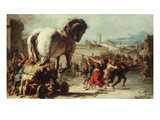 Procession of the Trojan Horse into Troy, C. 1760 Giclee Print by Giovanni Domenico Tiepolo