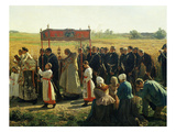 La Bénediction Des Blés En Artois En 1857 (Blessing the Wheat in Artois, France, in 1857) (Detail) Giclee Print by Jules Breton