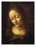 Virgin, from the Virgin of the Rocks, 1483-86, Detail Giclée-Druck von  Leonardo da Vinci