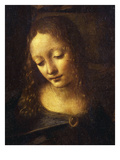 Virgin, from the Virgin of the Rocks, 1483-86, Detail Giclee Print by  Leonardo da Vinci