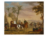 The Horsemen, 1826 Giclee Print by Charles Bellier