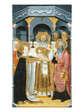Presentation of Chrst at the Temple, Verdu Retable, 1430-61, Llieda School Giclee Print by Jaime Ferrer
