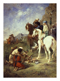 Hunting with Falcons in Algeria before 1863 Reproduction procédé giclée par Eugene Fromentin